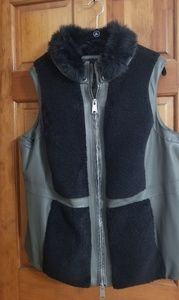 Faux leather and shearling vest NWOT